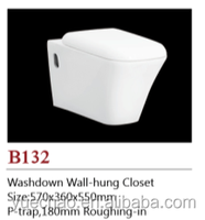 Fashionable ceramic wall mounted toilet (B132)
