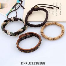 Factory Popular Excellent Quality Magnetic Unique Stylish Make Your Own Logo Leather Bracelet