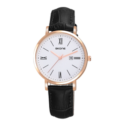 SKONE 9416 elegant ladies dress style genuine leather roman watch