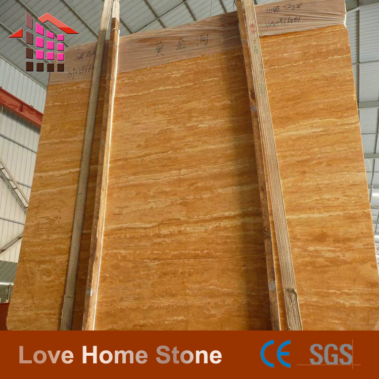 36''x36'' polished gold travertine marble tiles