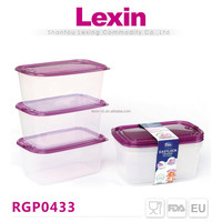 food grade airtight plastic innovative food container with vent lid
