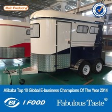 BAOJUHT-2 New model mobile gooseneck horse trailer high quality cheap gooseneck horse trailer with wheeks best gooseneck horse
