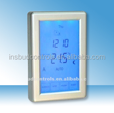 Snow melting system thermostat with touch screen