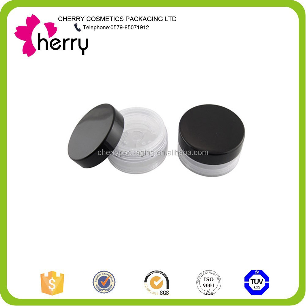 custom empty plastic loose powder jar with sifter