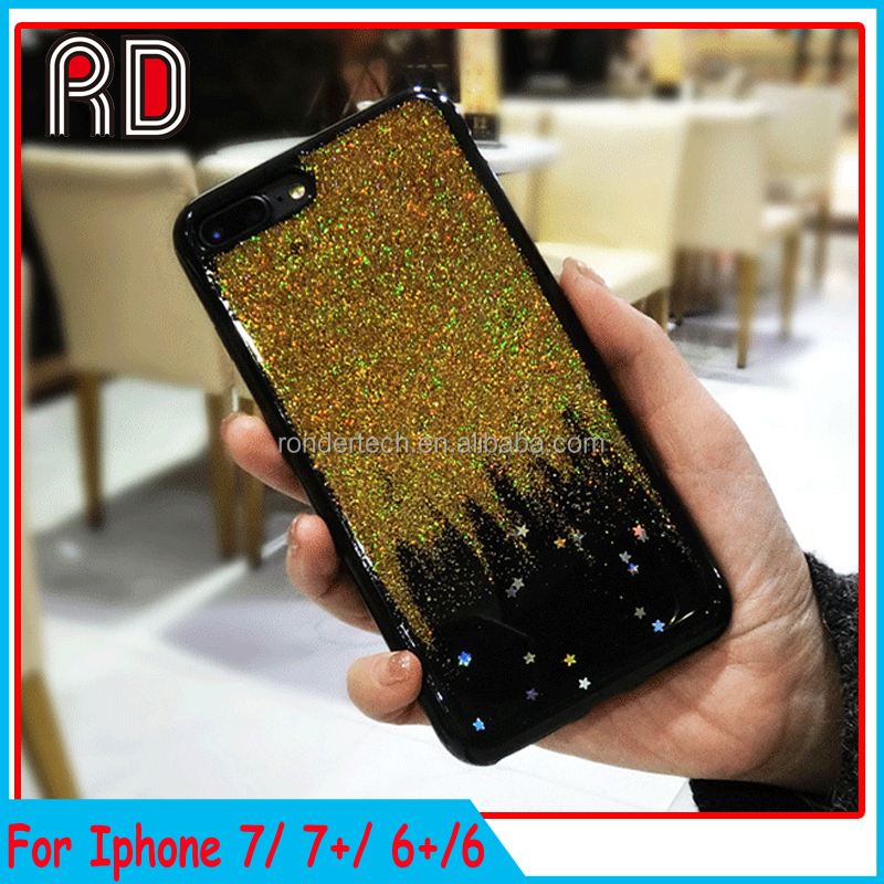 Trending products 2017 phone case for iphone 6 sparkle 3d silicone glitter full cover case for iphone 6 plus