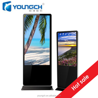 Metal frame strong casing with steel and unbreakable glass vandal proof 42 inch high quality lcd digital signage