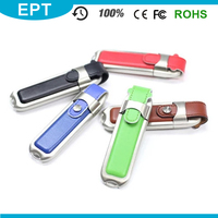 Nurse Leather Lanyard Recordable USB Flash Drive For Computer