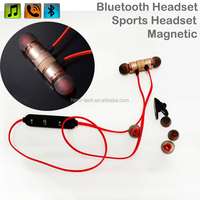 2017 New Arrival Sport Bluetooth Headset Magnetic Stylish Wireless Stereo Neckband Eearphone