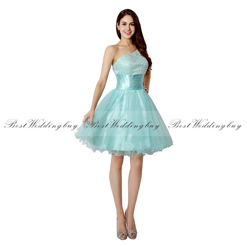 Imagenes de vestidos cortos color azul turquesa