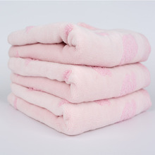 Promotional top quality jacquard weave soft towel
