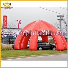 Red car cover used outdoor inflatable car garage shelter ,spider inflatable tent