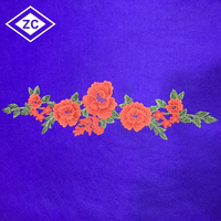 Professional clothes accessory hand work neck designs 3d flower embroidery patch