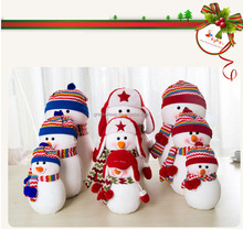 Customized Lovely Kids Christmas Presents Plush Toy Christmas plush toy Snow Man outdoor plastic santa clause