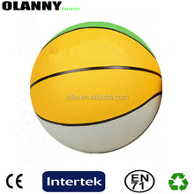 mini size logo printing heat transfer printing outdoor sport basketball