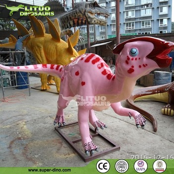 Resin Statue Catoon Models Fiberglass Dinosaur For Theme Golf