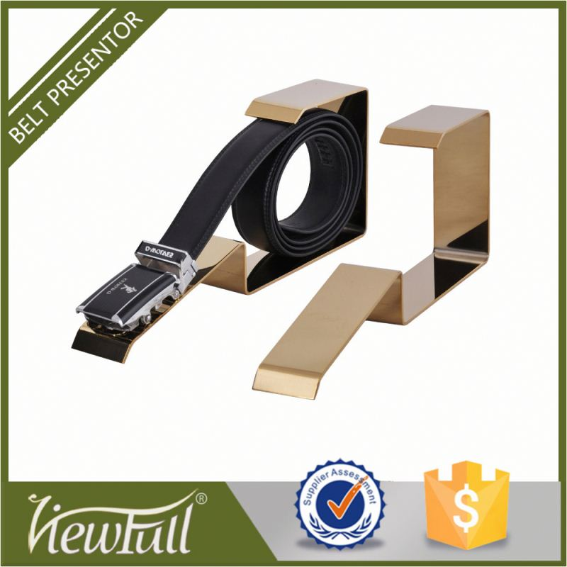 304 stainless steel matte and mirror craft best selling excellent handicraft man's belt display stand 1617