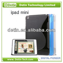 "For iPad Wholesale Featured ""S"" shape TPU gel soft case"