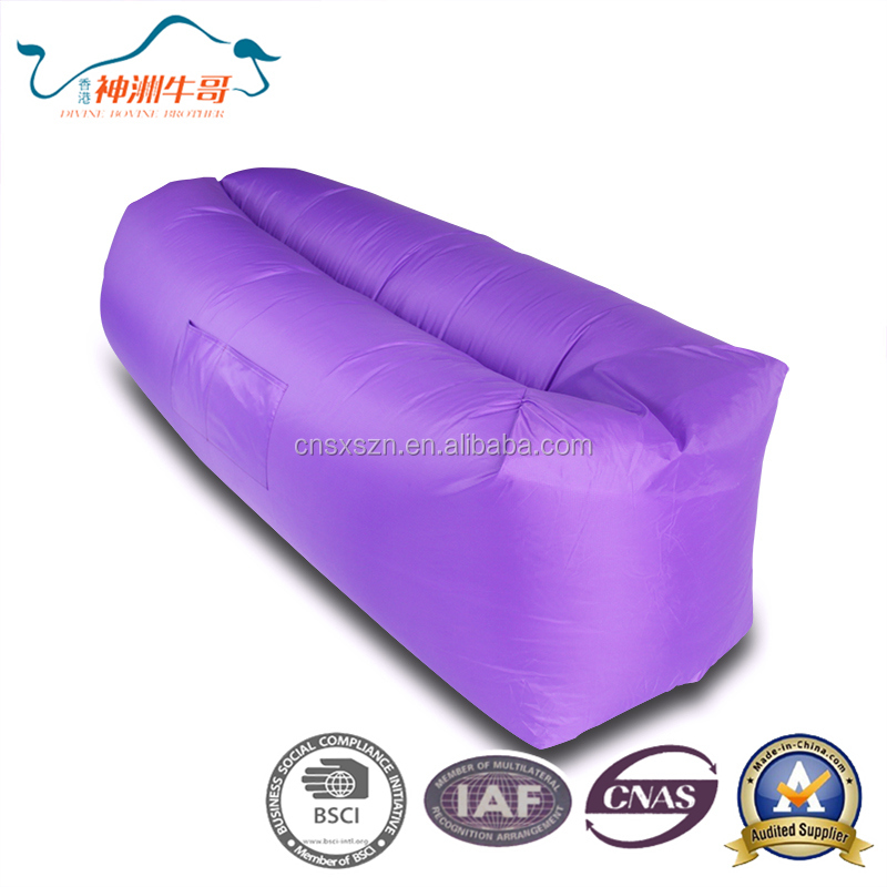 High Quality Portable Inflatable Air Sleeping Bag /Sofa Lazy bag sofa