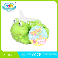 2015 New Item!Eco-friendly PVC big frog(with sound)+4 small frog baby bath learning toy