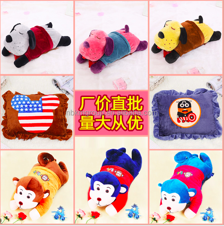 Anti-explosion Rechargeable Plush Electrical Hot Water Bag