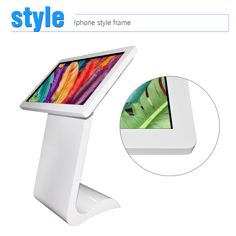 floor display stands for cosmetics 42inch with SAMSUNG/LG lcd panel network all in one pc touch screen display