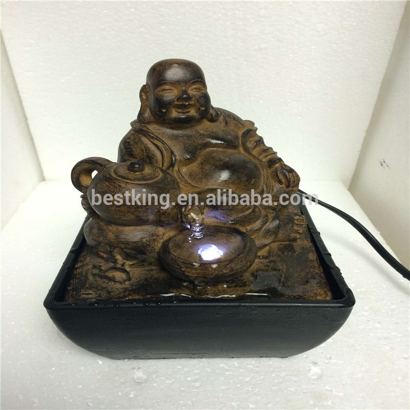 China supplier buddha fountain with led bottom price