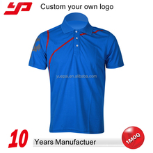 Customised 100% polyester dry fit mens polo t-shirts