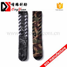 Sock manufacturers american style camouflage knee mens socks for army