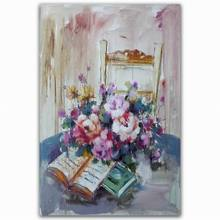 modern handmade beautiful acrylic oil painting pictures of flowers
