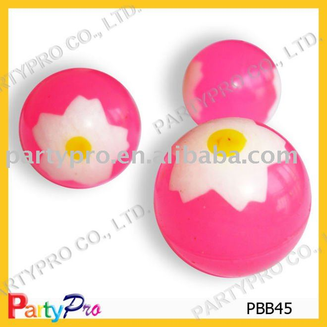 22-60mm dia synthetic rubber Vortical high bouncing ball toy