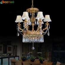 Latest technology brass crystal moroccan candle chandelier