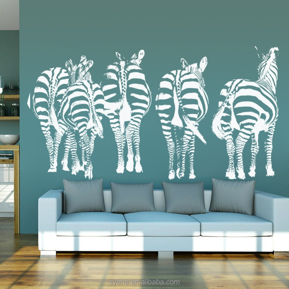 New arrivals decorative wall stickers animal design for Stickers 3d pared