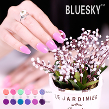 Bluesky hot selling high quality light change in the sunshine nail gel polish