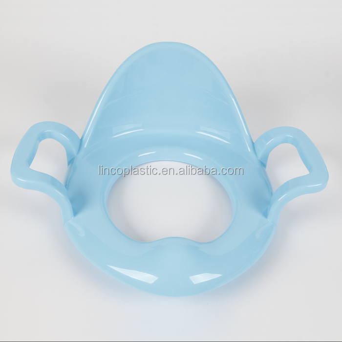 PP baby&children toilet seat with back and handles