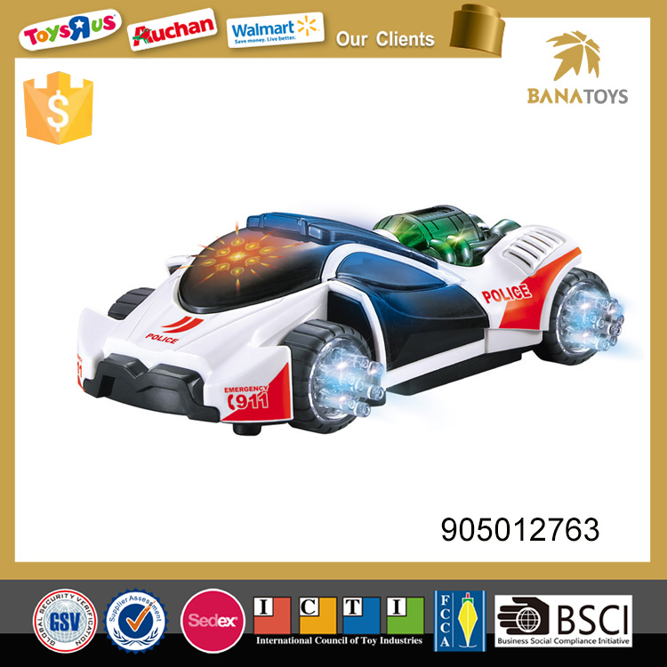 Fashion style electric mini toy police model car