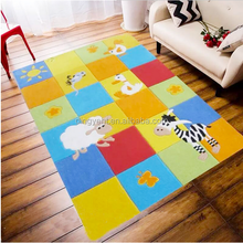 Heathy 100% acrylic pattern baby educational floor carpet