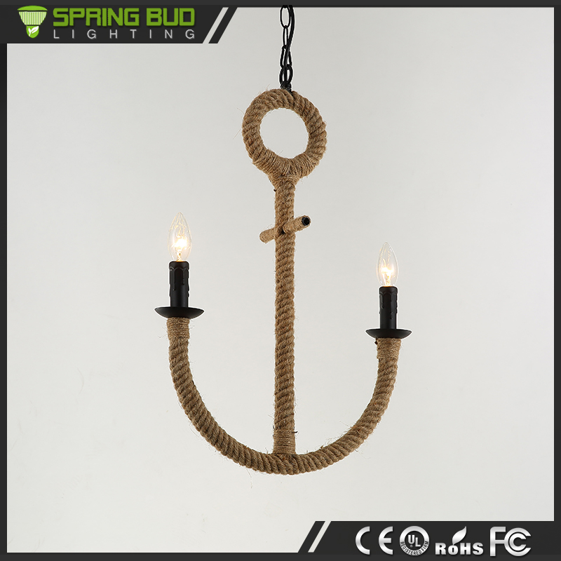 Energy saving decorative classical Boat anchor chandelier rope pendant lamp