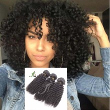 Top quality kinky curl human hair afro kinky curly hair extension virgin indian hair bundles