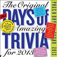 365 Amazing Trivia Facts Page-A-Day 2013 Desk Calendar