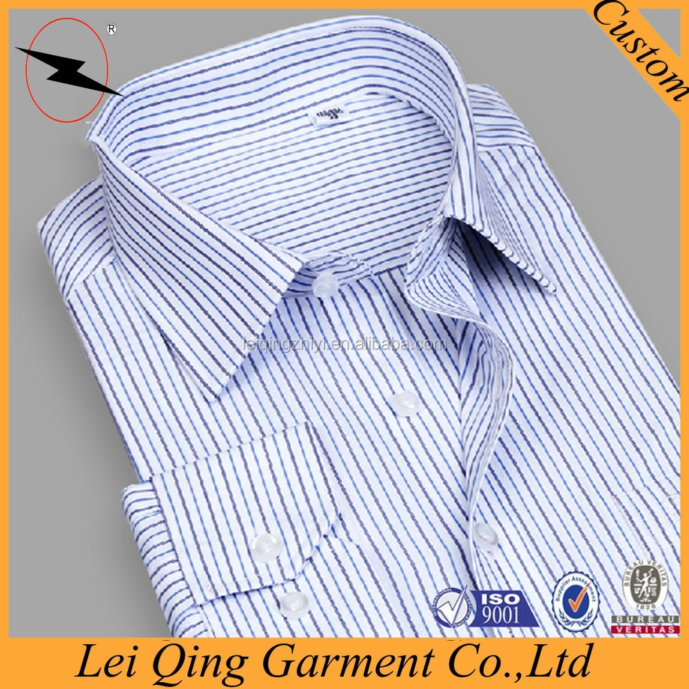 Top quality gentleman stripe color plus branded shirt