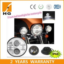 7inch DOT Four Color Change Halo Headlight Kit led headlights For Harley