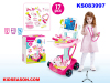 KIDSEASON 17PCS ELECTRIC LITTLE KIDS DOCTOR MEDICAL KITS TOYS PLAY SET WITH TROLLEY FOR GIRLS