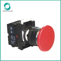LA115-A1 series, 25mm BV elevator part 10A extended illuminated self-locking plastic push button switch
