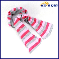 HZW-13790006 women fashion design knitted striped jacquard scarf
