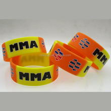 Factory directly swirling color debossed silicone wristband / bracelet / rubber band