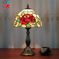 Colorful antique design glass table lamp