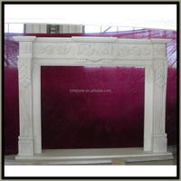 cheap fireplace mantel made of marble