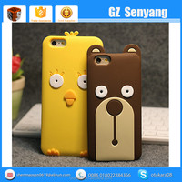 Korean Style Cartoon Animals Silicone Cell Phone Case for iphone 6s