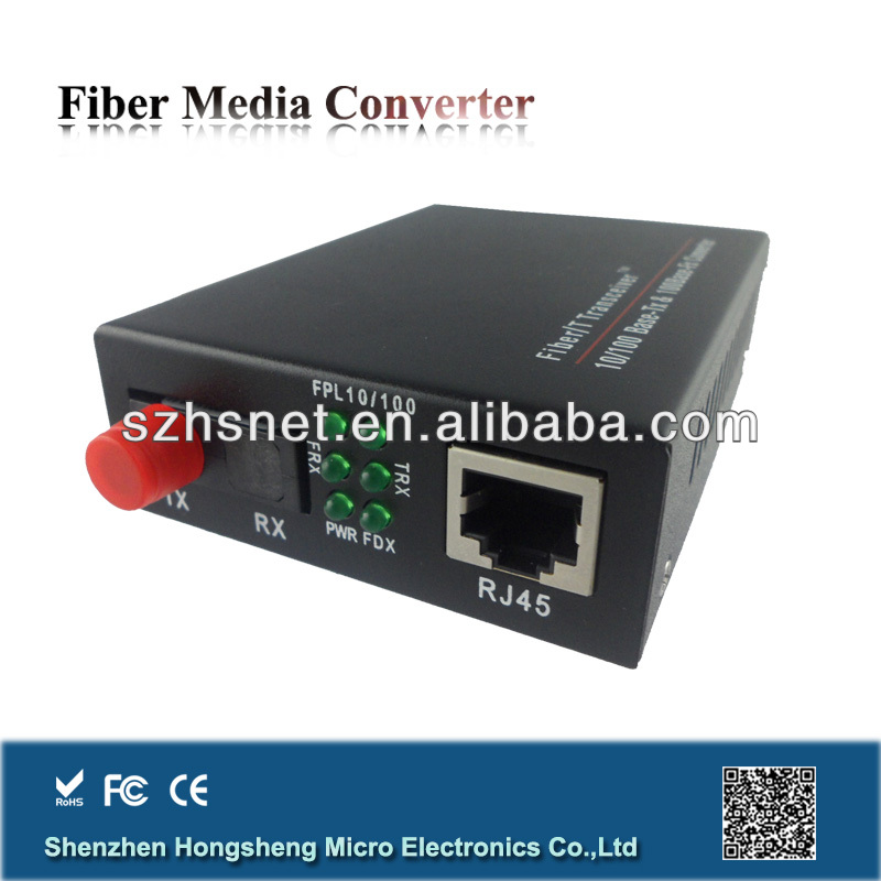 10/100M Fiber Optic E1 to Ethernet Converter 3C-Link with Single Mode Single Fiber 20km FC