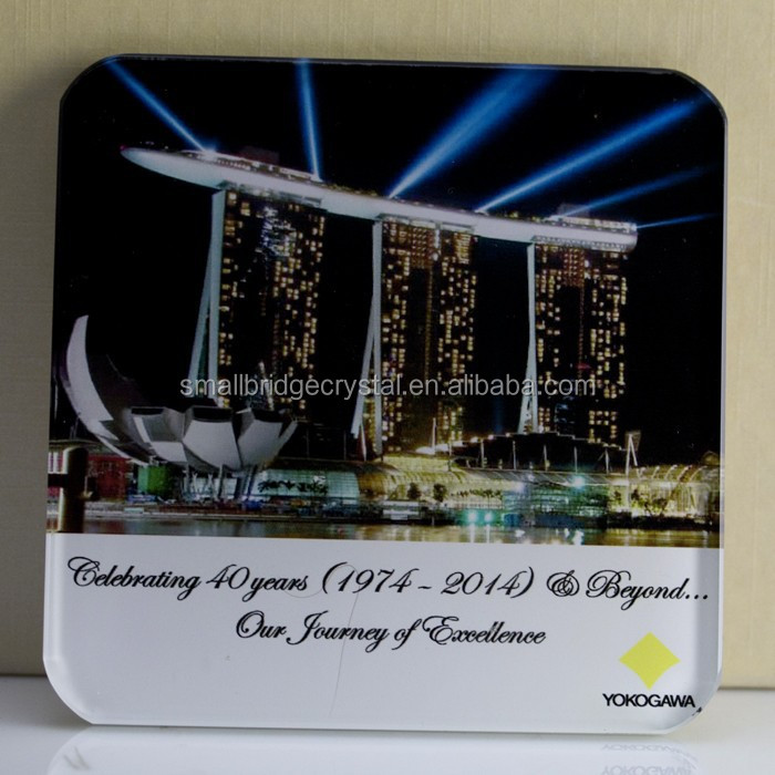 Wholesale Crystal Glass Coaster For Home Souvenir